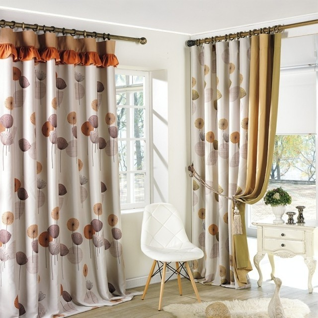 Ikea Cafe Curtains Of Dandelion Pastoral Simplicity Curtain Blackout Curtains