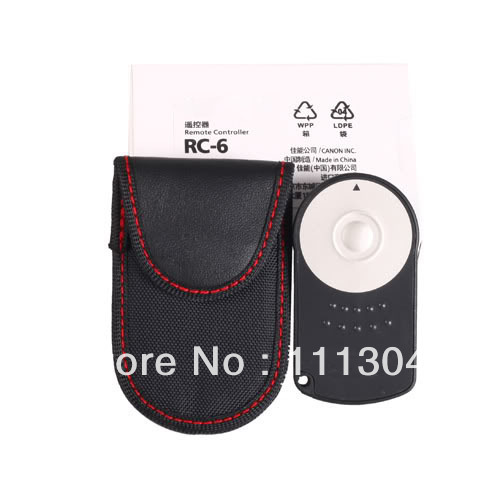 WHOLESALE RC-6 IR Wireless Camera Remote Control For Canon 7600D 5D II/7D/550D/500D,Free Shipping + Drop Shipping(China (Mainland))