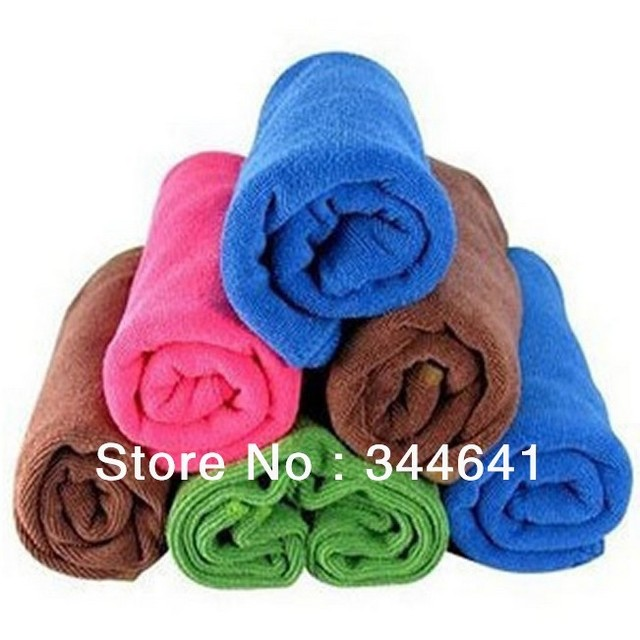33x30cm Car Home Cleaning Wash Microfiber Towel Auto Maintenance Tool Blue