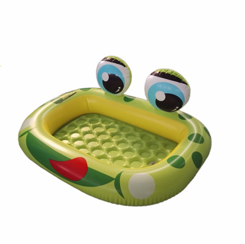 Baby swimming circle cartoon frog inflatable pool friendly for Piscinas toy