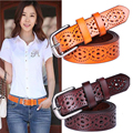 New Women Fashion Wide Genuine Leather Belt Woman Without Drilling Luxury Jeans Belts Female Top Quality