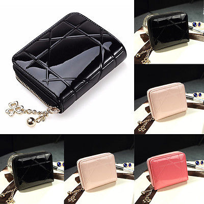 Fashion Women Leather Small Wallet Lady Card Holder Zip Coin Purse Bag(China (Mainland))