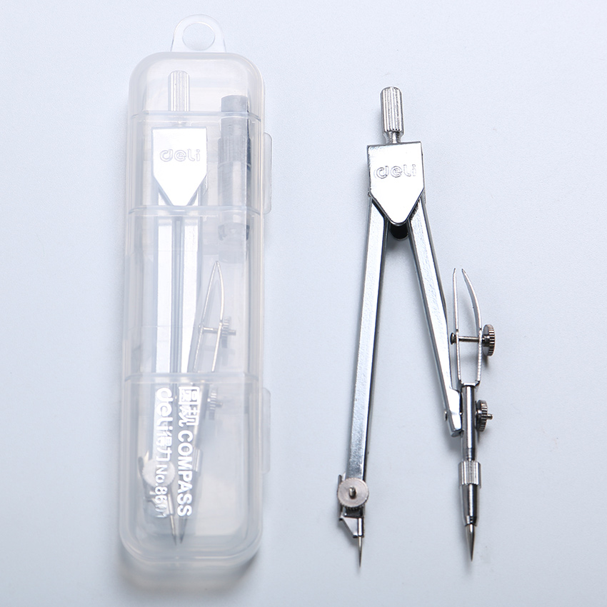 1 Pcs Affordable New School Stationery Drawing Tool Silver Tone Metal Stainless Steel Drafting Compasses(China (Mainland))