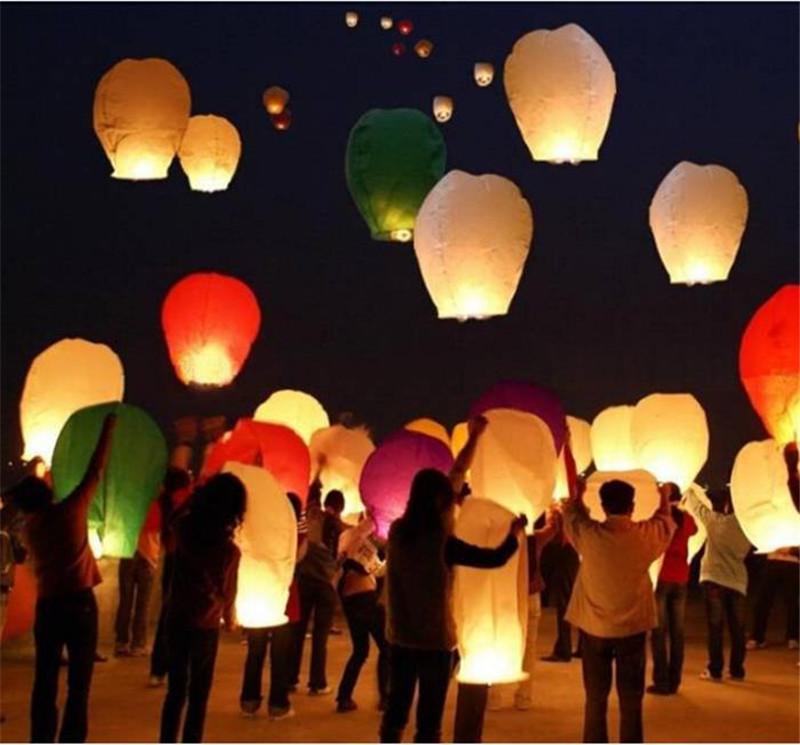 10pcs/Lot Red Love Heart Sky Lantern Flying Wishing Lamp Hot Air Balloon Chinese Kongming Lanterns Birthday Wedding Party Favors(China (Mainland))