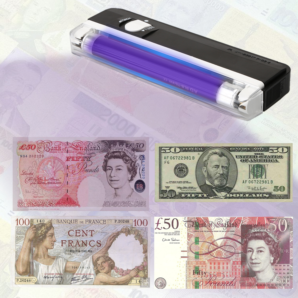 2 in1 Handheld Handheld UV Led Light Torch Lamp Portable UV Bank Note Checker Counterfeit Currency Money Detector(China (Mainland))