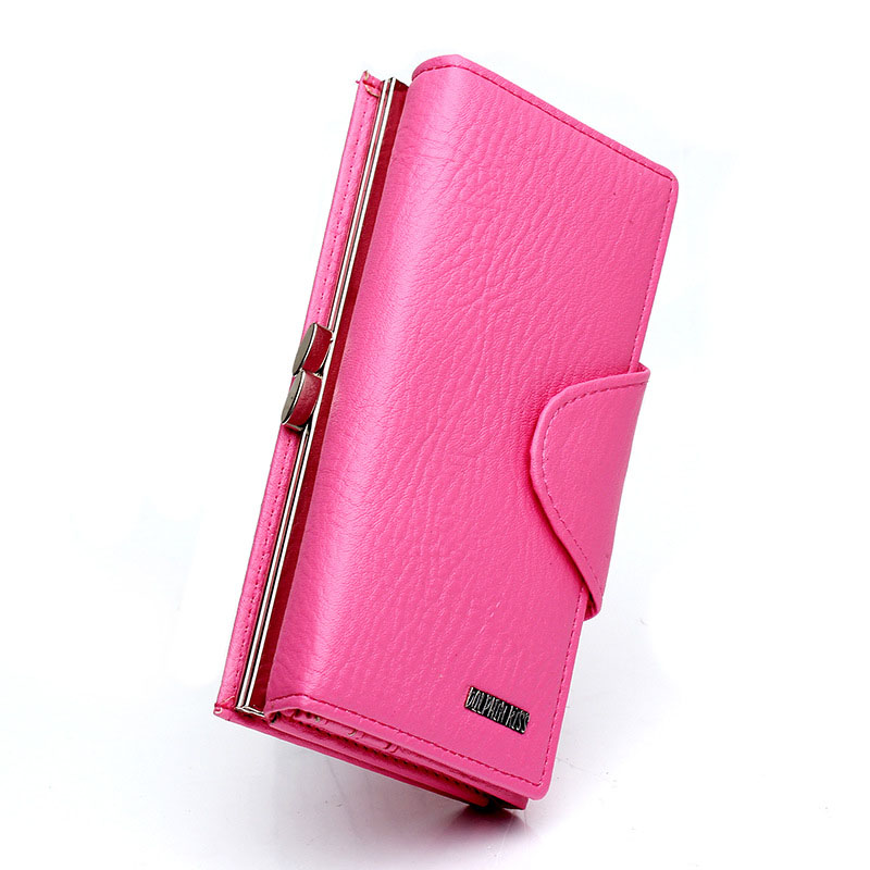 New Arrive Clutch Purse Women Long Type Pink Leather Female Hasp Wallets Korean Female Credit Card Holder Cell Phone Purse Bags(China (Mainland))
