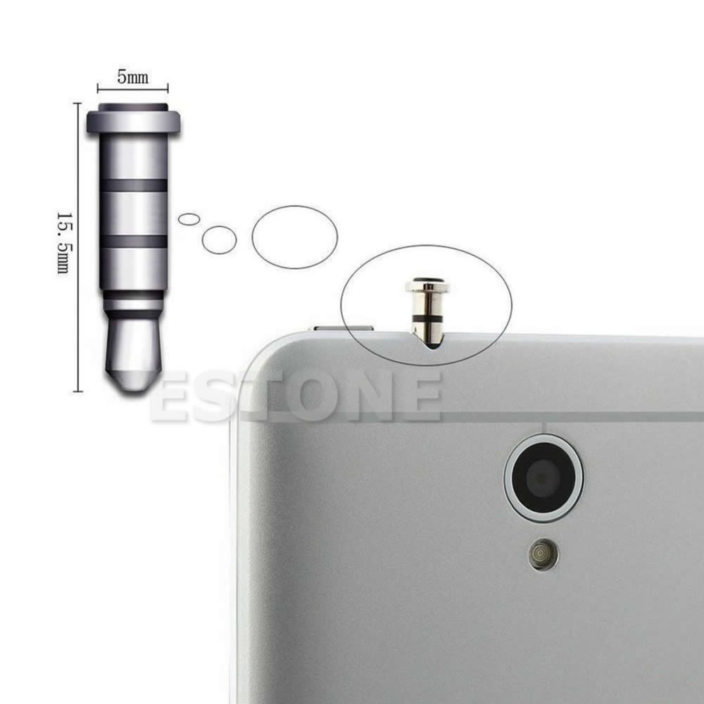 Hot Sale 1PC Klick Quick Button Dustproof Plug For Andriod Smartphone 3.5mm Jack(China (Mainland))