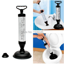 Free Shipping Powerful Toilet Bath Tub Shower Sink Drain Clog Suction Buster Plunger Remover(China (Mainland))