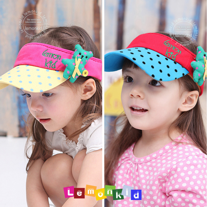 Korea Fashion Patchwork 100% Pure Cotton Korea Style Children's Cap Hats For Kids Girls Spring And Summer New 2014(China (Mainland))
