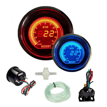 "Buy Hot 2"" 52mm Turbo Boost Vacuum Gauge Psi 12V Car Blue Red LED Light Tint Lens LCD Screen Auto Digital Meter instrument Universal for $28.98 in AliExpress store"