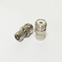Miniuhf вилочная часть вилка переключатель увч женское джек RF коаксиальный адаптер конвертер прямой Nickelplated