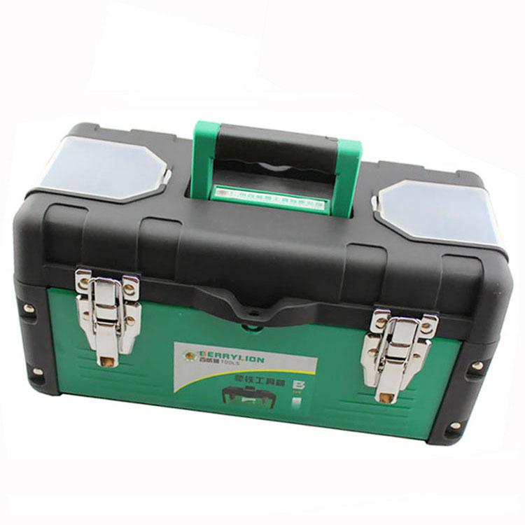 The new high-grade ABS thick metal toolbox tool box plastic storage box totes fishing(China (Mainland))