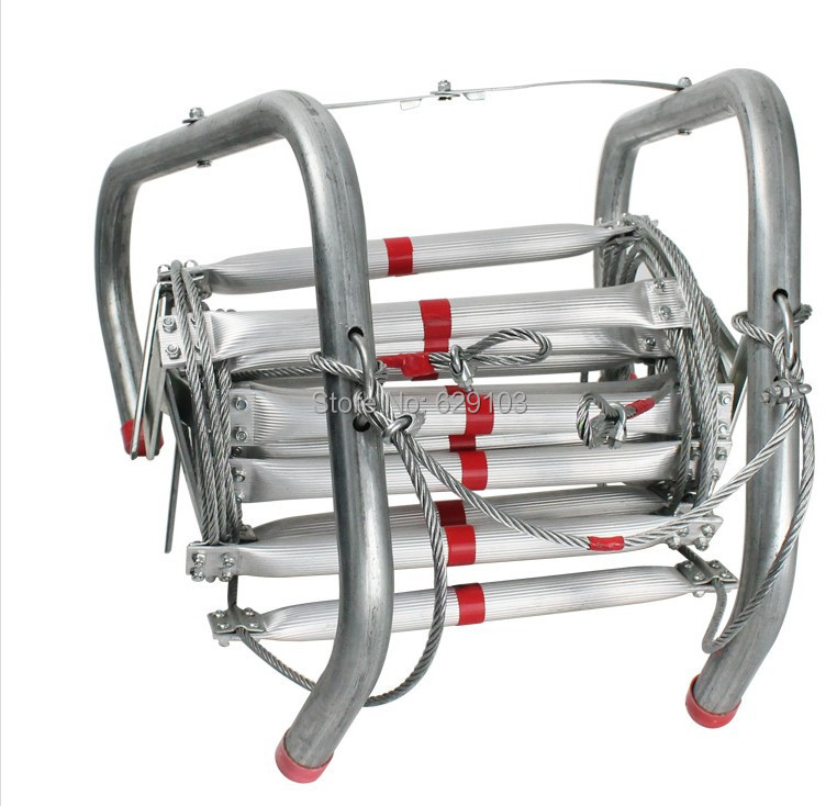 5meters length ,aluminum alloy fire escape ladder,with big hook used for fire fighting
