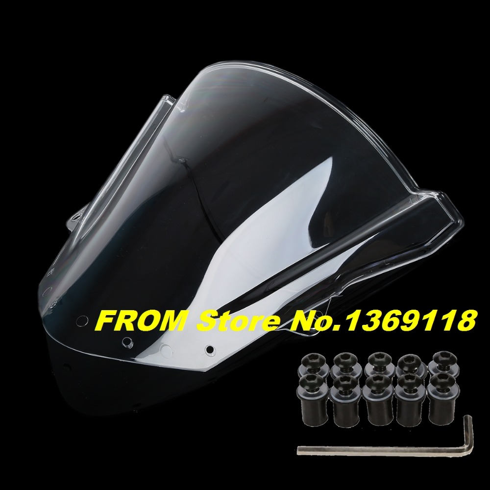 Clear Windscreen For kawasaki ZX6R 2009 2010 2011 2012 2013 2014 Motorcycle Clear Windshield With Free Bolts(China (Mainland))