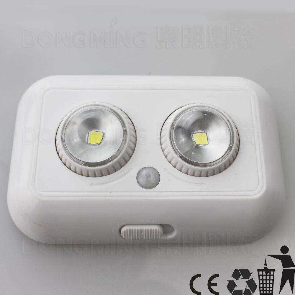 5PCS/set Factory price DC 4.5V 1W PIR Auto Infrared Motion Sensor Night light Intelligent Body Induction Detector Two LED bulbs(China (Mainland))