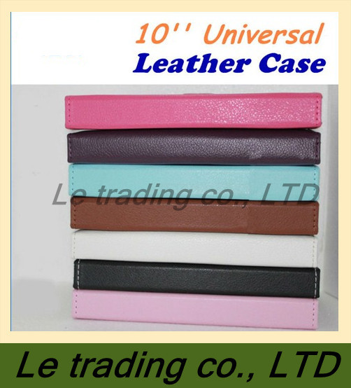 Free shipping hight quality 10inch Universal Leather Case cover For all 10inch tablet pc