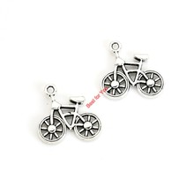 Buy 10pcs Antique Silver Plated Bike Bicycle Charms Pendants Bracelet Necklace Jewelry Making Accessories DIY 20x19mm for $1.08 in AliExpress store