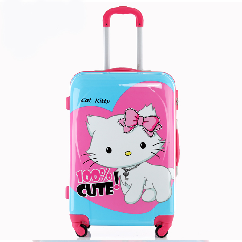Free shipping Whitecat universal wheels trolley luggage picture travel bag luggage bag female 2024  New 2014<br><br>Aliexpress