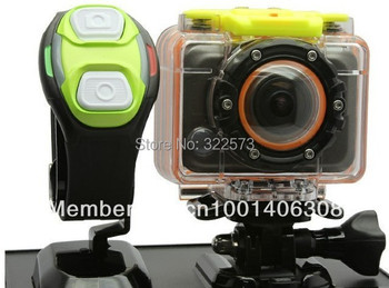 Promotion! 1080P WIFI HD Sports Action Camera 60M Waterproof with Watch Wireless remote and Gopro Style with Ambarella solution