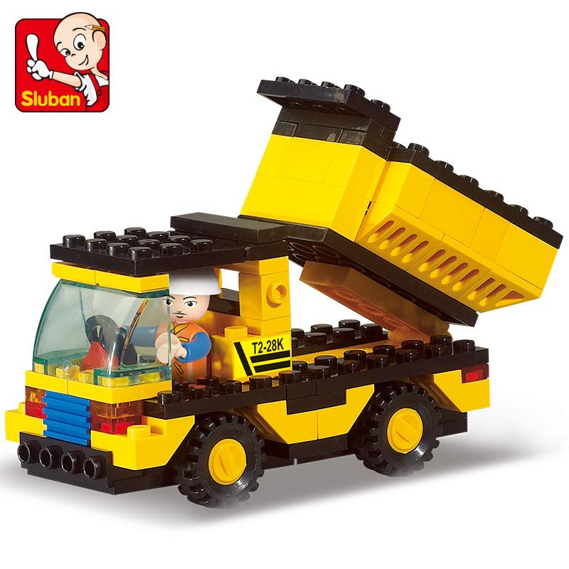 Genuine SLuban Blocks Heavy Engineering Series Children Educational Toy Truck Compatible with Lego(China (Mainland))