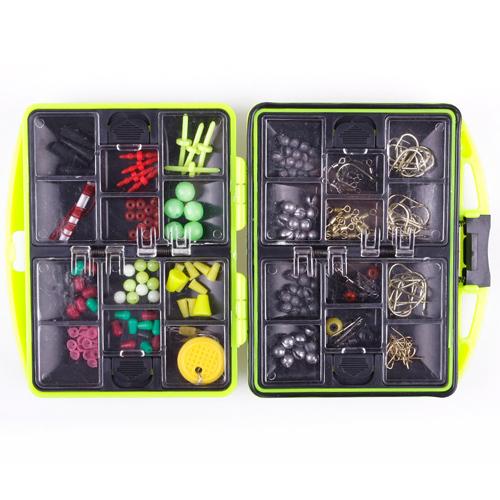 Portable Assorted Fishing Fish Tackles Swivels Lures Baits JIG Head Hooks Box Case Kit #41067(China (Mainland))