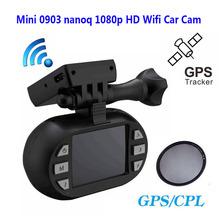 Free Shipping!!Original Mini 0903/nanoq 1080p HD Wifi Car Dash Cam Capacitor 7G NT96655 IMX322 GPS +Extra CPL(China (Mainland))