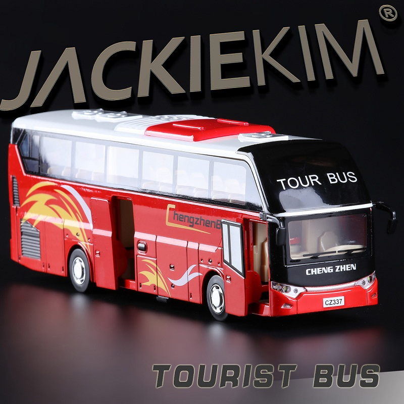 High Simulation Exquisite Collection Toys: Caipo Car Styling Tourist Bus Model 1:38 Alloy Bus Model Fast&Fruious(China (Mainland))