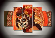 Framed Printed Day of the Dead Face Group Painting room decor print poster picture canvas decoration Free shipping/ny-279(China (Mainland))