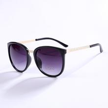 fashion women Super Nice Luxury metal Leg Oval design Sun Glasses Women Men Fashion Butterfly Oculos De Sol N192