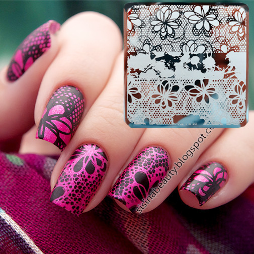 Mixed Lace Patterns Nail Art Stamp Template Image Plate Y001 6cm(China (Mainland))