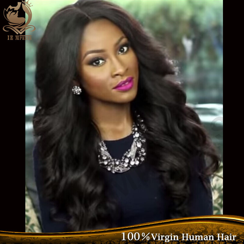 Beautybyjj Lace Front Wig Unprocessed Virgin Glueless Full Lace Wig Peruvian Body Wave Full Lace Human Hair Wigs For Black Women(China (Mainland))