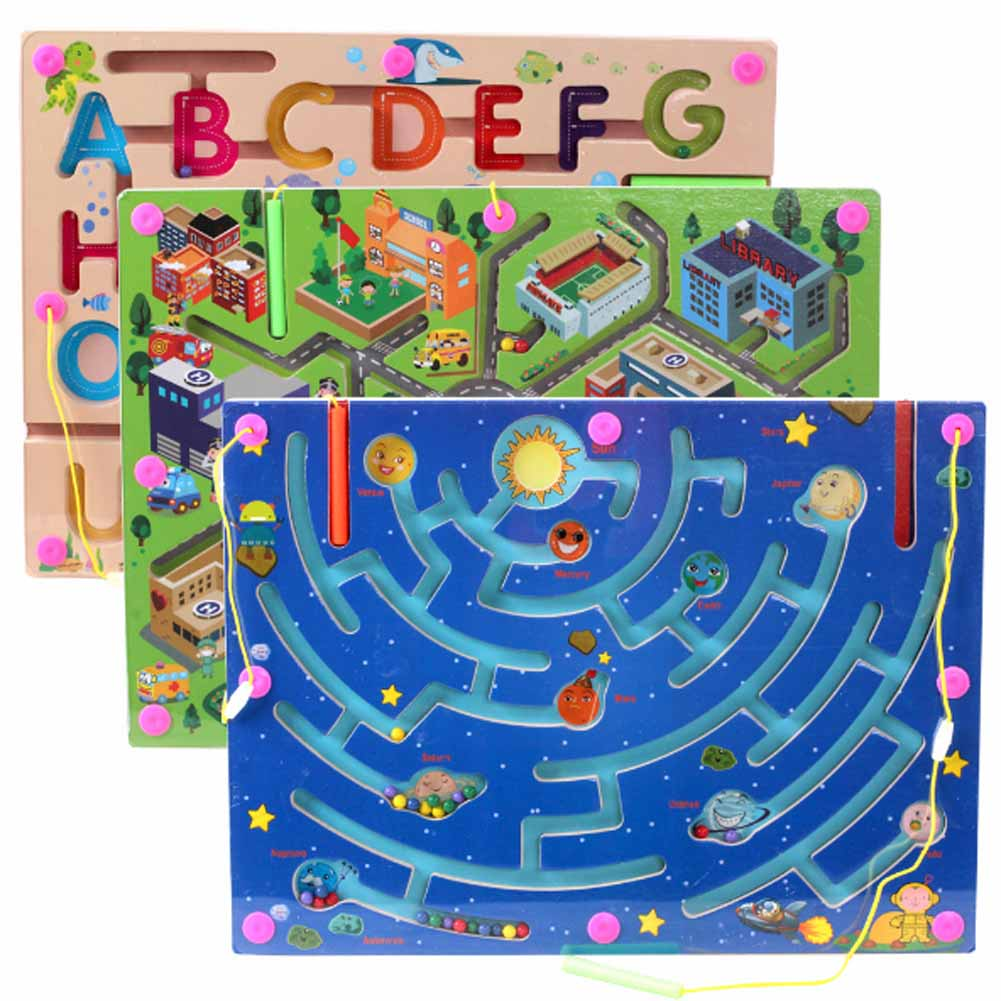 New Walking Beads Magnetic Maze Toy Transport City Planning a Variety of Child Puzzle(China (Mainland))
