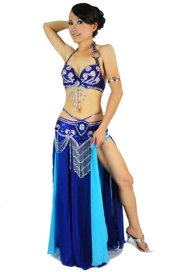 New High Quality Belly Dance Costume 2 pics set of Bra&Belt,Bra Size:34B/C,36B/C,38B/C,40B/C,12 colors(China (Mainland))