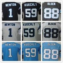 SexeMara Youth Kids stitched jerseys,1 Newton 13 Benjamin 88 Olsen 59 Kuechly Jerseys,Size S-XL,Best Quality,Authentic Jersey(China (Mainland))
