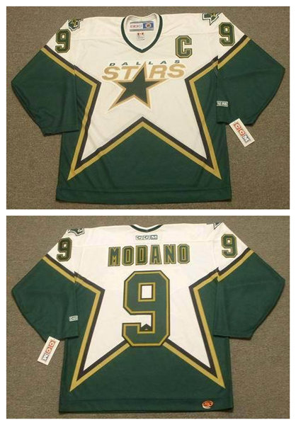 Cheap Mens Stitched Dallas Stars Home Green Vintage Throwback 2005 Jersey #9 MIKE MODANO Ice Hockey Jersey with C patch(China (Mainland))