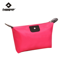 DOLOVE Cosmetic bags Women Bag Manufacturers Wholesale Promotional Gifts Ladies Wash Bag Folding Hand Bag(China (Mainland))
