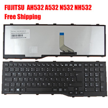 New United Kingdom UK Laptop Keyboard for FUJITSU Lifebook AH532 A532 N532 NH532 BLACK FRAME BLACK (For Win8) Replacement(China (Mainland))