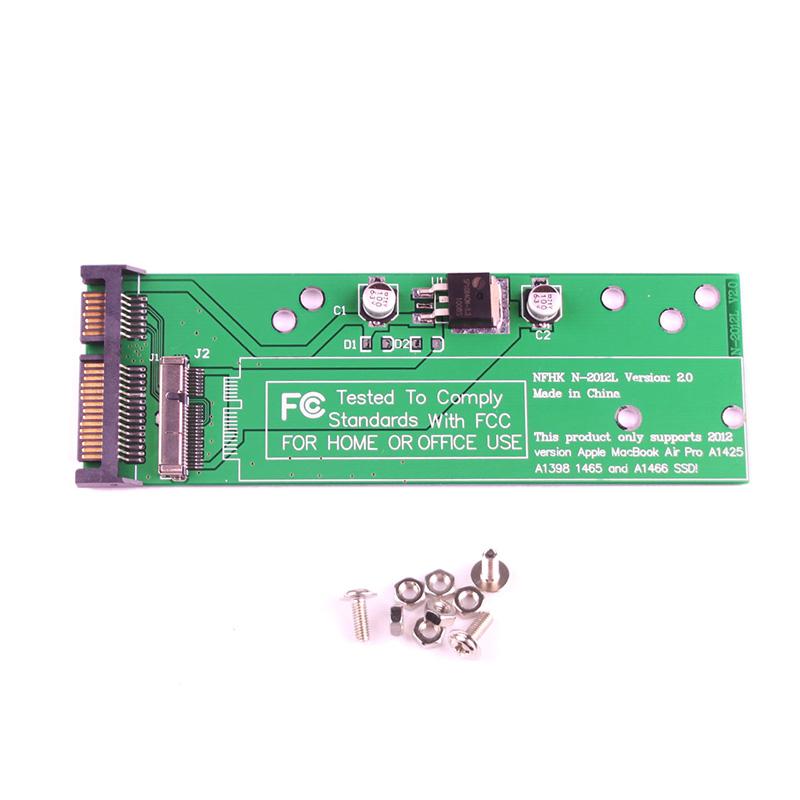 7 + 17 pins SSD Card Hard Disk to SATA Adapter for Apple Macbook Air 2012 #64043(China (Mainland))