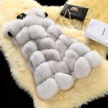 New 2016 Winter Coat Women Fashion Import Overcoat Whole Peel Fox Fur Vest High-Grade Cappa Fur Coat Leisure Women Coat(China (Mainland))