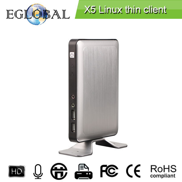 New arraival pc multi user share thin client X5 1GB RAM 8GB flash cloud online video play web printer and camera support win8(China (Mainland))