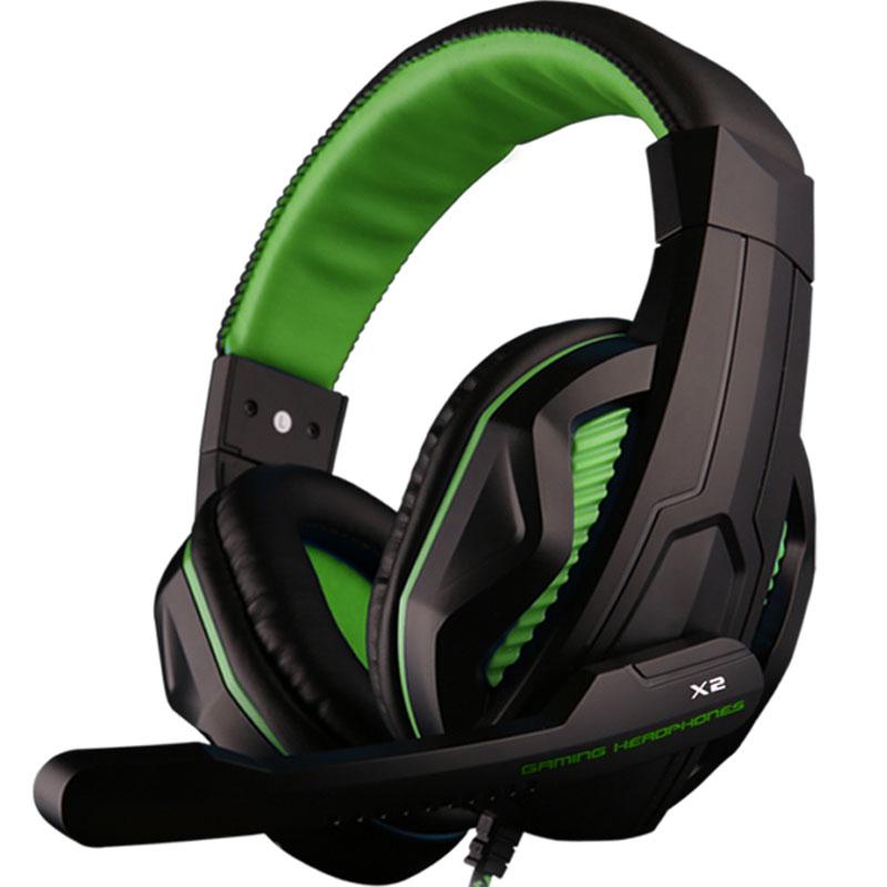 Gaming Headset Earphones & Headphones Headphone with Microphone Gamer Gamer Bass Noise Isolating Brand dj 3.5mm X2(China (Mainland))