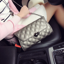 The spring of 2016 the new diamond lattice chain bag lady fashion one shoulder his parcel