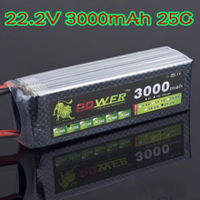 RC Quadcopter Lipo battery 22.2V 3000mAh 25CWith T Plug Lipo battery For RC Car RC Boat and Helicopter