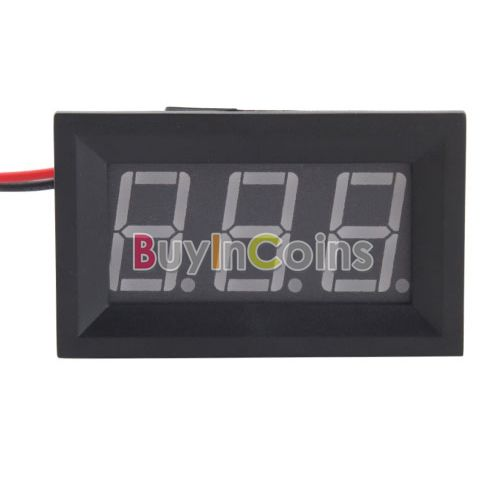 DC 4.5-30V New 2 Wire Digital Display Blue LED Panel Voltage Meter Voltmeter US AS #18755(China (Mainland))