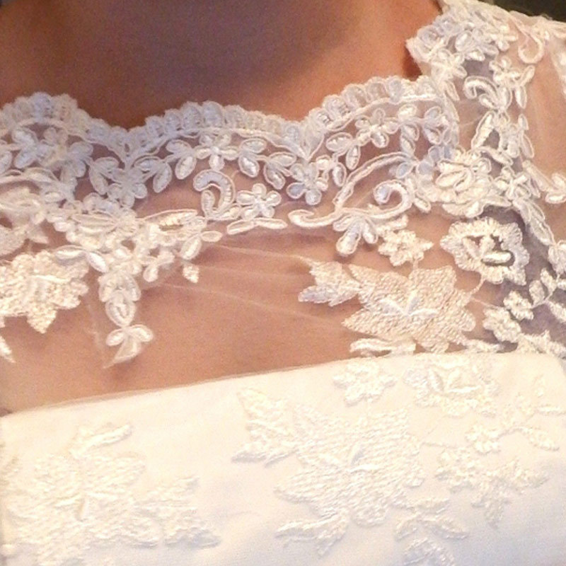 Free shipping See through Vintage Inspired Custom Made Plus size Scoop Tea Length Lace Short Wedding
