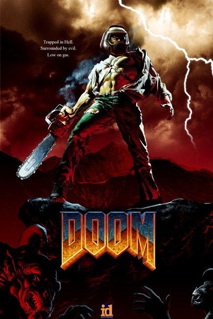 "011 Doom - First Person Shooter Video Game 24""x36"" Poster WY159(China (Mainland))"