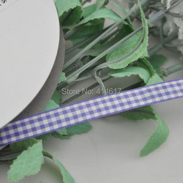 Upick 3 8 10mm Purple One Roll font b Tartan b font Plaid Ribbon Bows Appliques