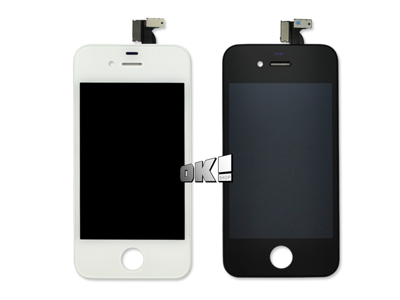 DHL 30 pcs/lot Top Quality lcd display for iPhone 4 display Screen replacement Black White 100% Test(China (Mainland))
