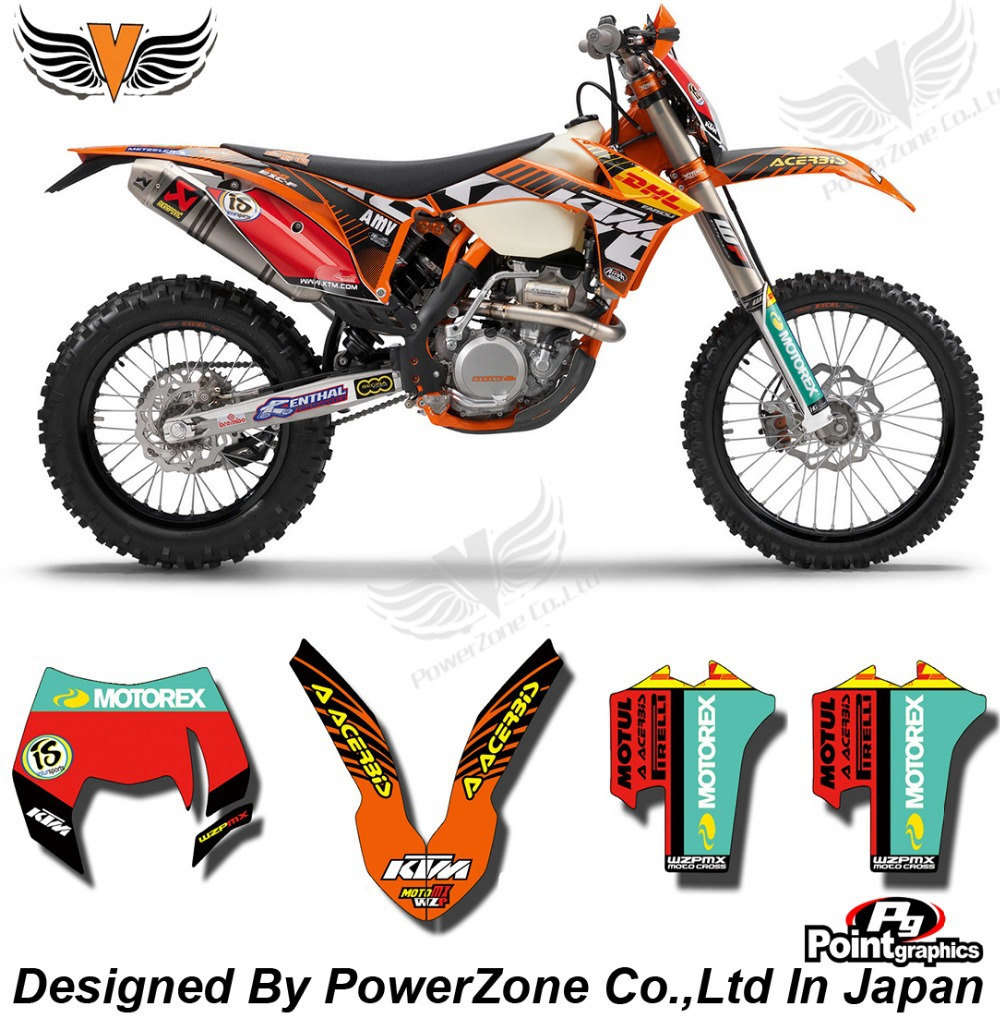 Top Quality Team Graphics & Backgrounds Decals 3M DHL Stickers Kits For KTM SX SXF EXC 125 250 450 525 1998-2014 Free Shpping