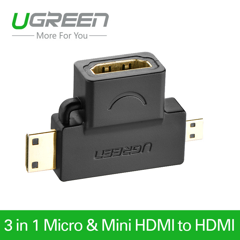 Гаджет  Ugreen Mini HDMI Male Micro HDMI male to HDMI Female Type A Adapter cable M/F Converter Convertor for tablet pc tv mobile phone None Бытовая электроника